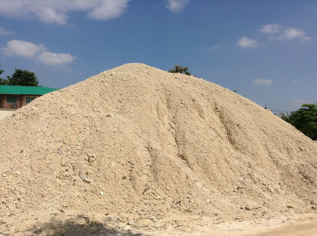 White clay on a hot day. Construction Construction Site Clay Clay Work Cloud - Sky Construction Industry Construction Work Landscape Low Angle View Material Mound Mounds Of Earth Nature No People Outdoors Sky Soil White White Clay