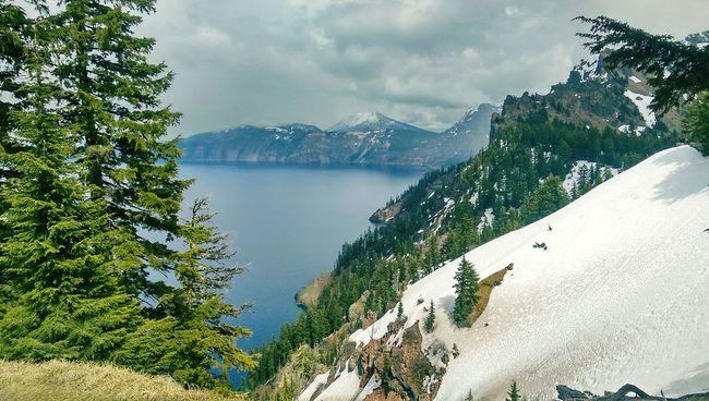 Crater Lake Crater Lake, Oregon Crater Lake National Park Lake Mountain Mountain Peak Outdoors Snow
