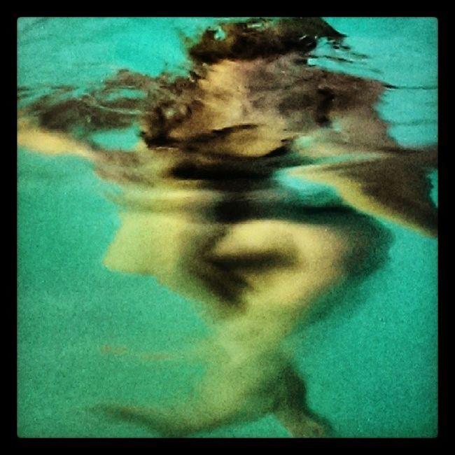 Swimming Underwater Blurry Art?