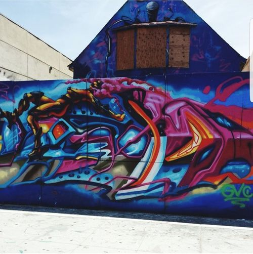 Venice Beach Wall Art Street Art Graffiti Multi Colored Building Exterior Art And Craft Built Structure Architecture Creativity City Day Outdoors City Life No People Sky