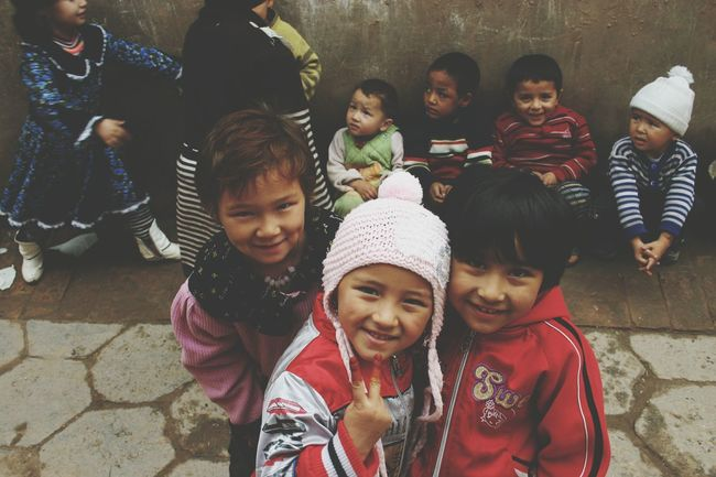 Togetherness Leisure Activity Childhood Xinjiang Of CHINA Toddler  Beautiful Children Children Photography Children Of The World Children Innocent Eyes Child Outdoors Smiling Capture The Moment