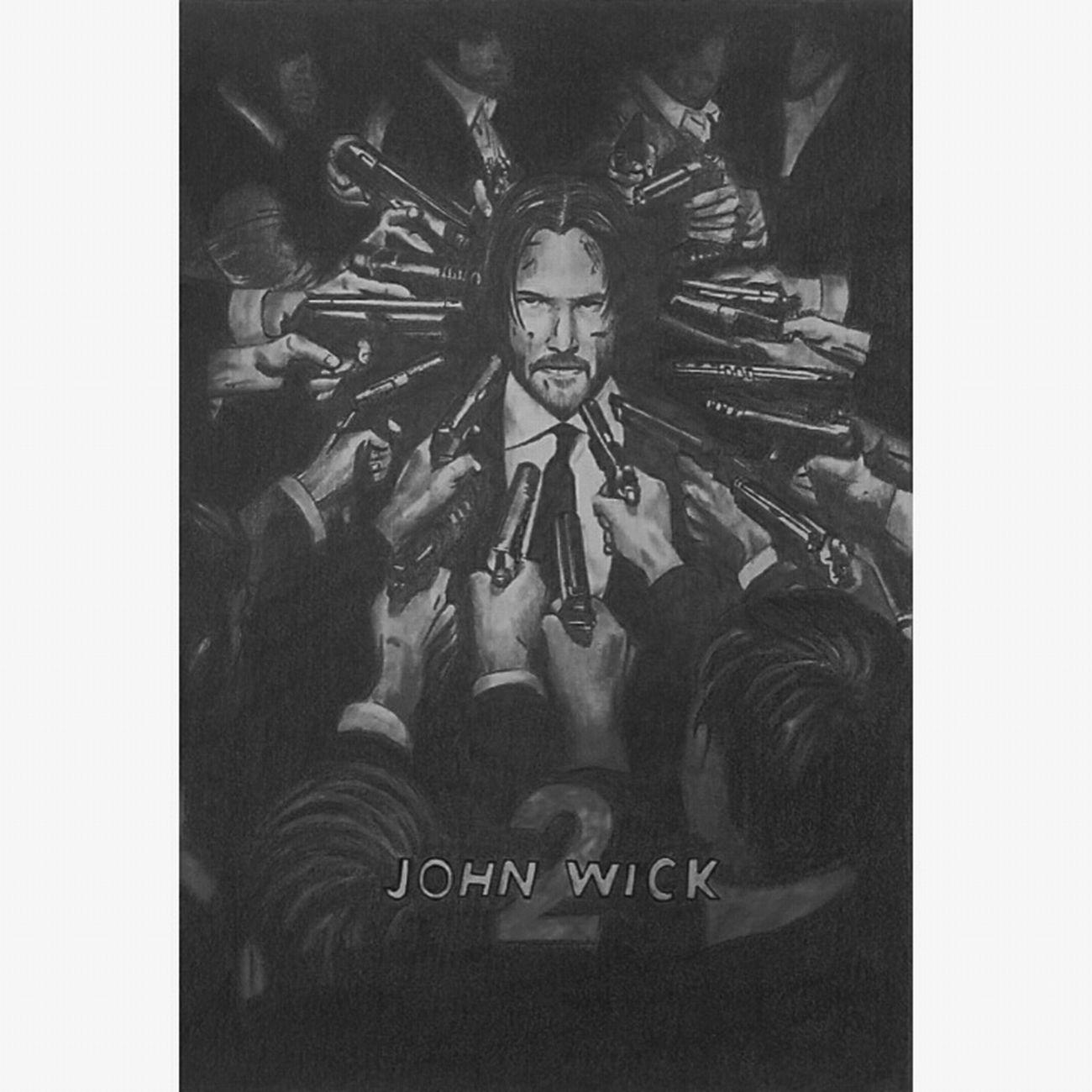 JohnWick2 Johnwick MOVIE Movie Poster Poster Poster Art Art ArtWork Artists Portrait Portrait Of A Man  Killer Gun Allshot One Man Only Moviestar Actor Black & White Draw Draw By Me Drawing ✏ Sketch Sketch Art Men One Person First Eyeem Photo