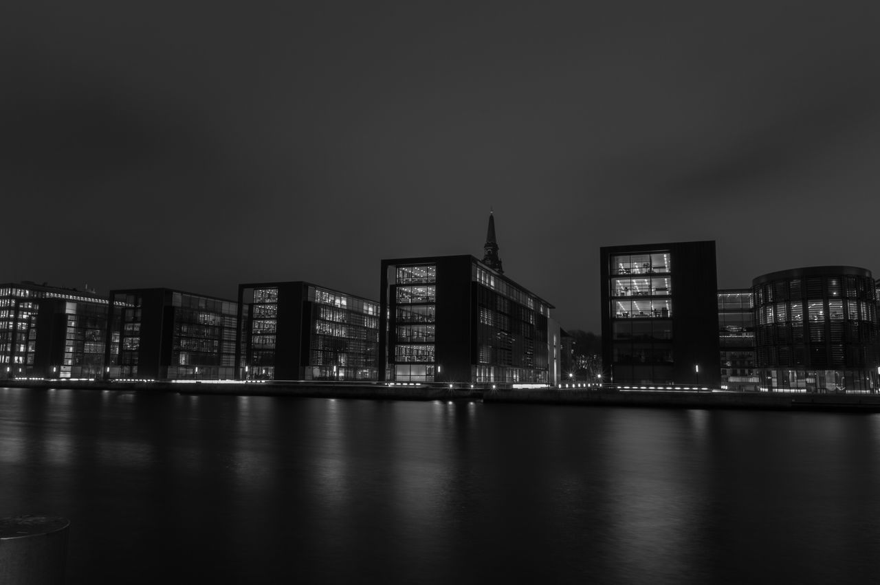 Architecture Night Modern Building Exterior Skyscraper City Blackandwhite Love Amazing Architecture Amazing SwagBuilt Structure Picoftheday All_shots Igers IGDaily Vscocam Tweegram Landscape Followme Eye4photography  Nikonphotography Copenhagen, Denmark EyeEm Best Shots EyeEm Team