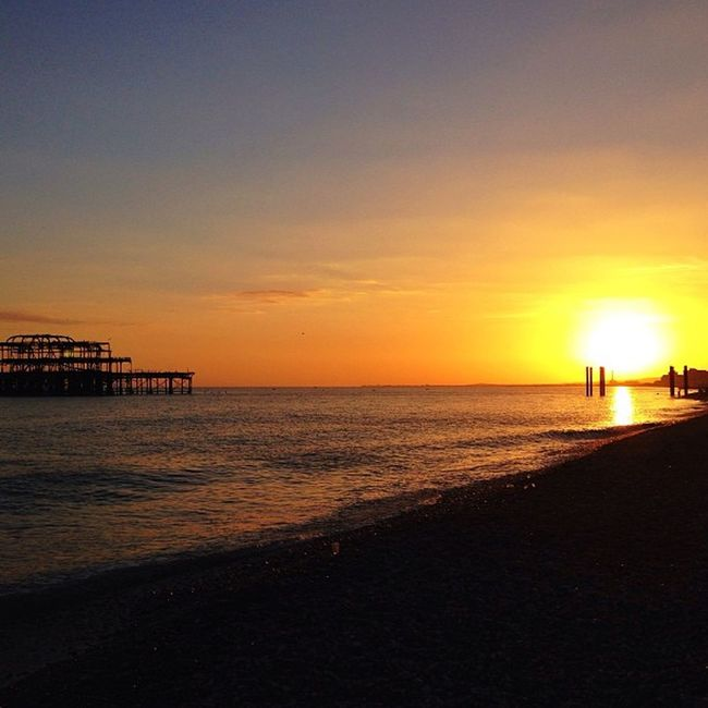 Sunset on #brighton beach ☀️?????☀️ From_city Pro_shooters Beach Alan_in_brighton Sunset Insta_brighton Brighton Igers_brighton Gang_family Allshots_ Gf_uk Gi_uk Ig_england Aauk Ic_cities_brighton Capture_today Loveyoursummer Mashpics Top_masters