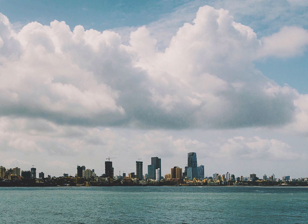 Showcase July Architecture Cityscapes Skyline Mumbai India Indiapictures Ocean View Ocean Sea Clouds Clouds And Sky A Bird's Eye View