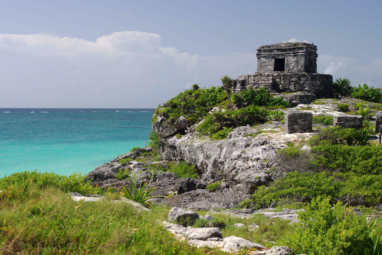 Temple of the wind - Tulum - Mexico Ancient Civilization Architecture Beach Building Exterior Built Structure Carribean Carribean Sea Horizon Over Water Nature Sea Spring Break Spring Break 2017 SpringBreak Springbreak2017 Travel Destinations