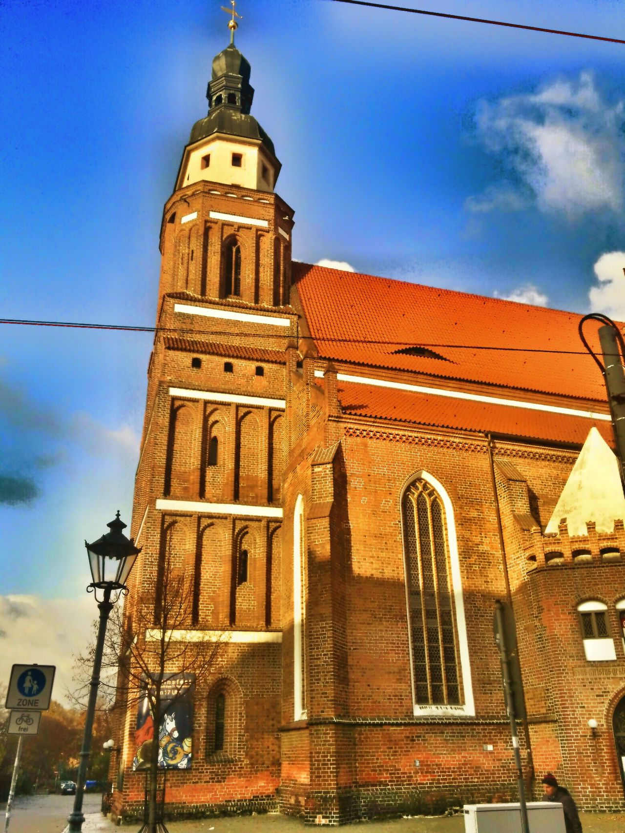 Oberkirche Cottbus Sun Cloud - Sky Day No People City