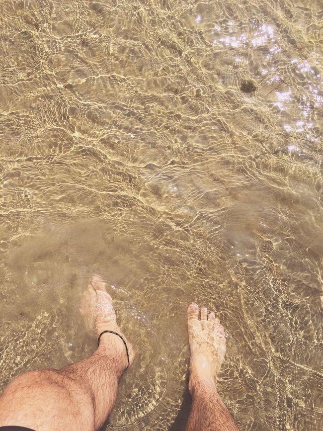 < feel the vibe 🐚🌿 > First Eyeem Photo Lac PointAuRoche Freedom Beautiful Aqua Water Beachphotography Beach Feets Feetinthewater Clear Water Aquawater Sand EyeEm Eye4photography  Photography