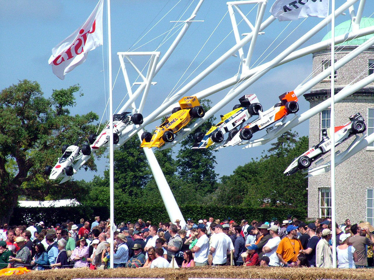 Goodwood Sculpture - Goodwood House Art & Design Art & Sculpture Art Cars Automotive Sculpture Autosport Goodwood Festival Of Speed Goodwood Festival Of Speed 2015 Goodwood FOS Goodwood House Motorsport Olympus Racing Cars Sculpture Sculpture In The Park