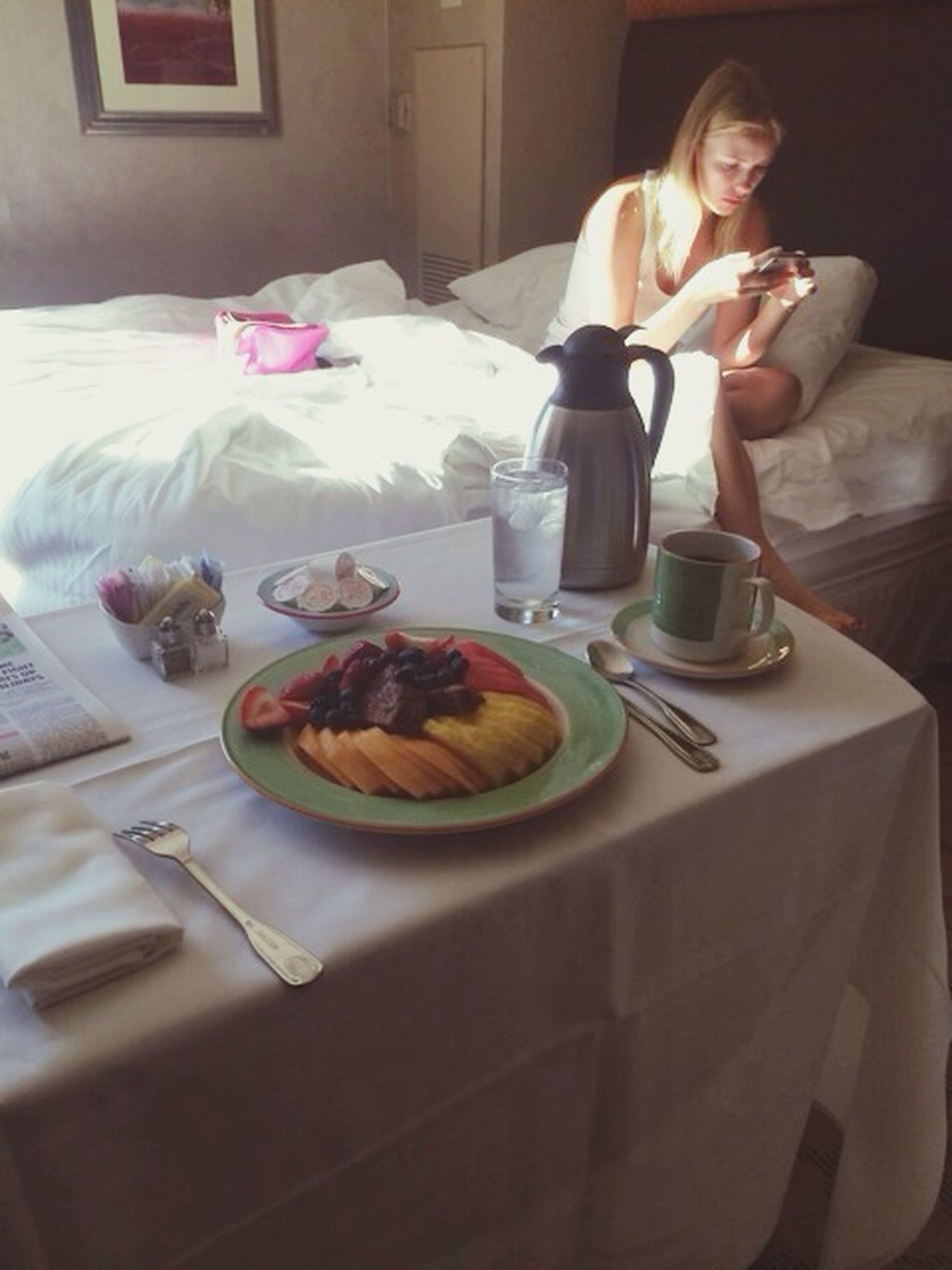 indoors, food and drink, table, food, freshness, plate, still life, fork, ready-to-eat, drink, breakfast, refreshment, coffee cup, healthy eating, spoon, indulgence, drinking glass, table knife, sweet food, high angle view