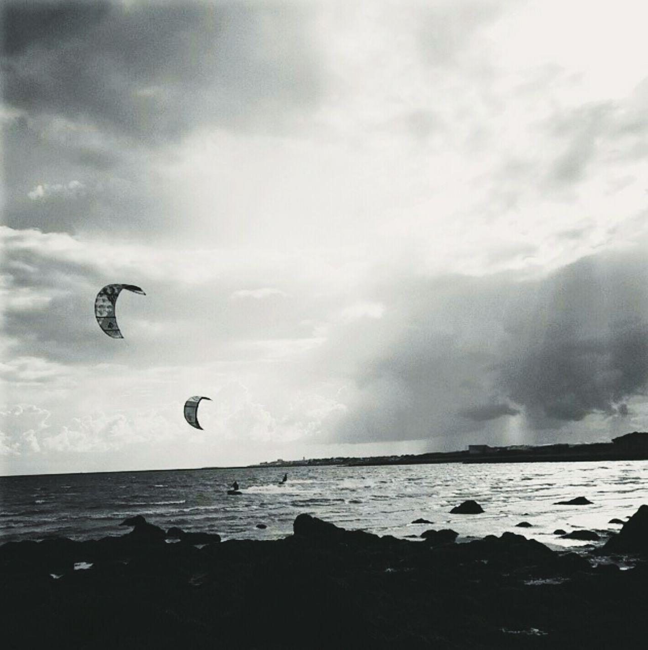Sea Kitesurfing Wild Atlantic Way Galway Bay Galway, Ireland Galway City Water Sports Beach Nature Lifestyles Scenics Moodygram Kiteboarding Beauty In Nature Irish Tranquil Scene
