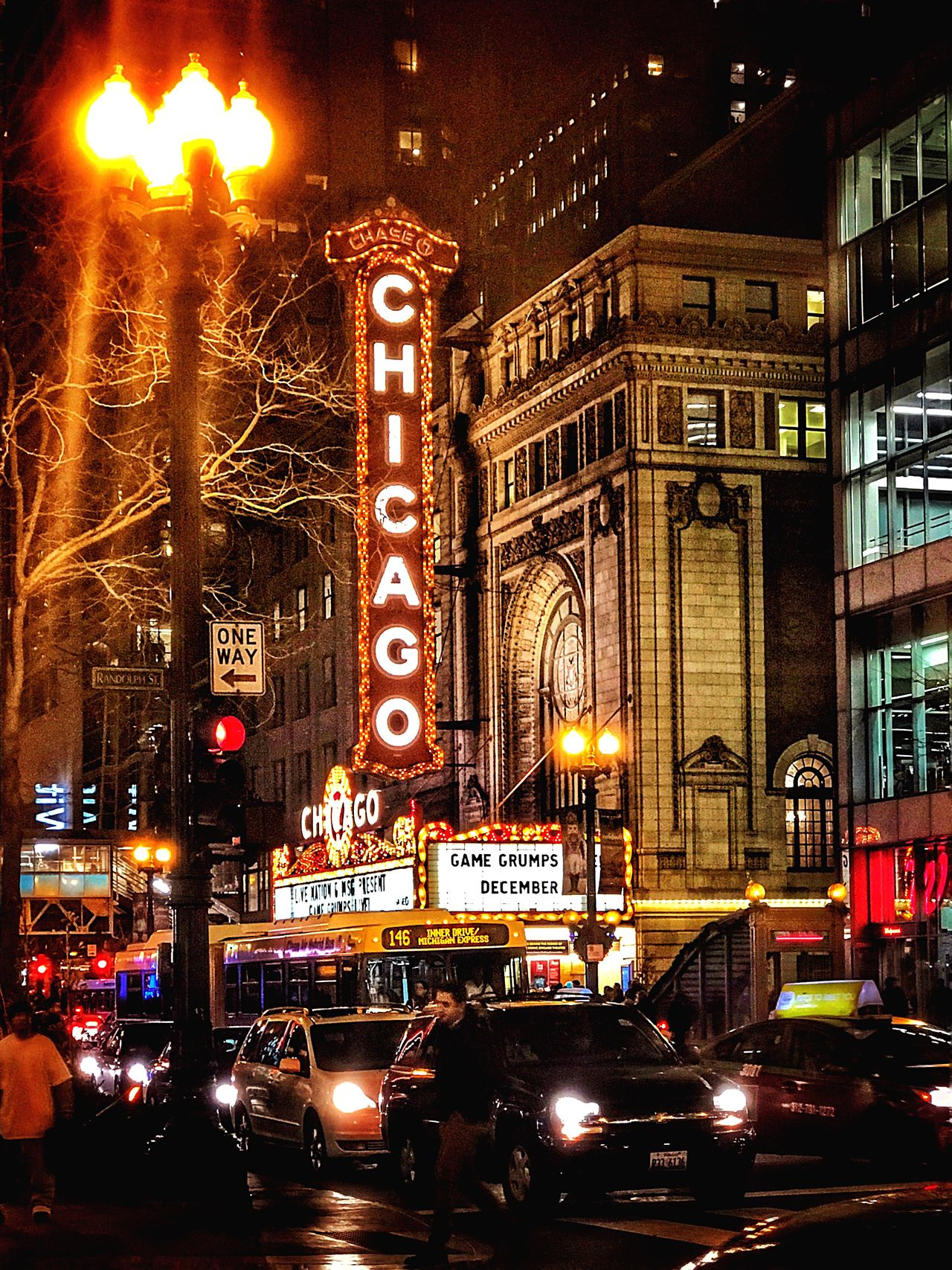 My favorite Marquis Chicago Chicago Theatre Perfect Always Architecture Lights And Shadows Illuminated Night Nightphotography Night Lights Iphone7+ Travel Visit MyCity❤️ EyeEm EyeEm Best Shots EyeEm Gallery EyeEmBestPics