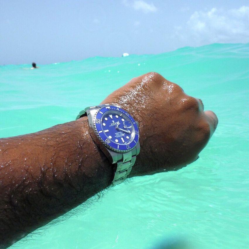 Blue on blue Rolexsubmariner Watches Wristporn Rolex