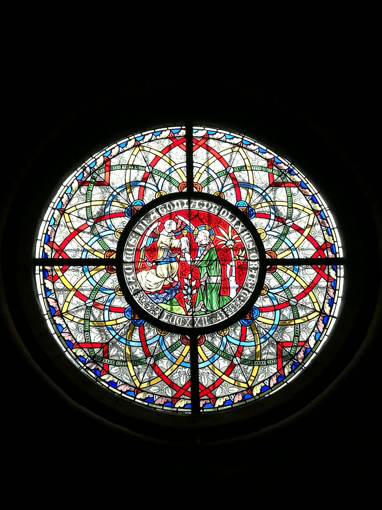Pattern No People Indoors  Day Circle Multi Colored Indoors  Sacred Places Indoors  Window Stained Glass Architecture City Travel Destinations Churches Sacred Artofvisuals