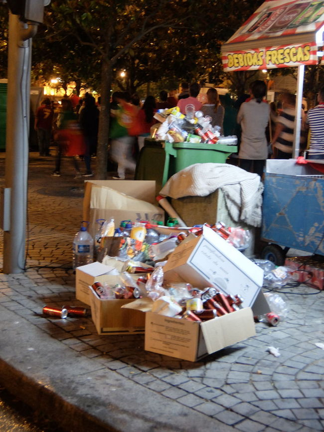 Drinking Eating Euro 2016 Flags Garbage Green & Red Party Porto Portugal People Together