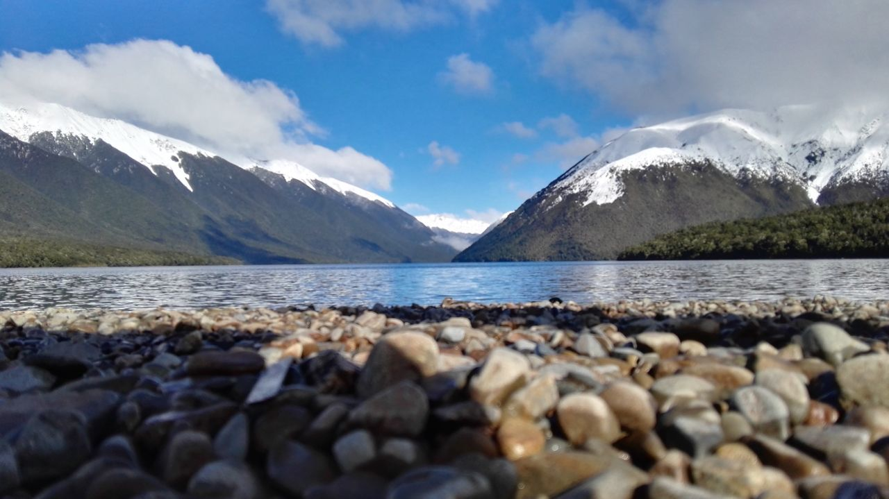 Lake Rotoiti Mountain Beauty In Nature Landscape Snow Blue Water Outdoors Hiking Lake Mountain Range Mountain Peak No People Sky Freshness New Zealand Scenery Beauty In Nature Nature South Island New Zealand 100% Pure