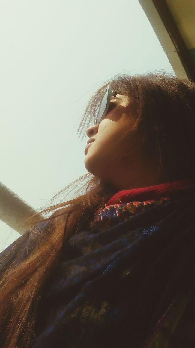 One Person Close-up Sky Lifestyles Sunshine Sunglasses ✌👌 Sunglasses