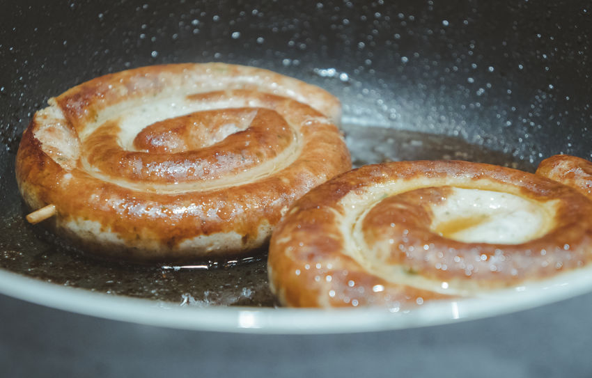 Bavaria Bratwurst Dishes Food And Drink Meal Sausages Tradition Bad Health Bavarian Close-up Day Eat Fett Food Food And Drink Freshness Indoors  No People Pfanne Plate Plates Ready-to-eat Sausage Sausage Roll Sweet Food