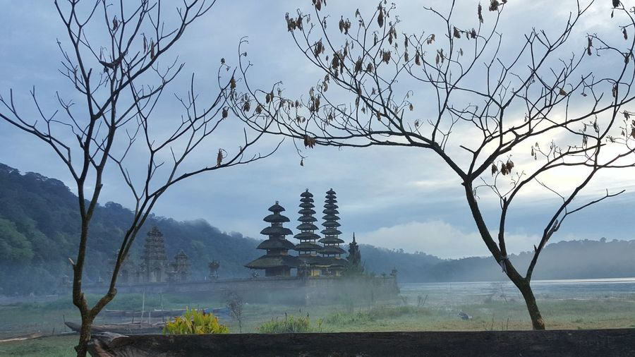 Pura Ulun Danu Tamblingan on Misty Morning Frame Fog Landscape Outdoors Beauty In Nature Pura Ulun Danu Tamblingan Tamblingan Bali, Indonesia EyeEm Selects Beauty In Nature Blue