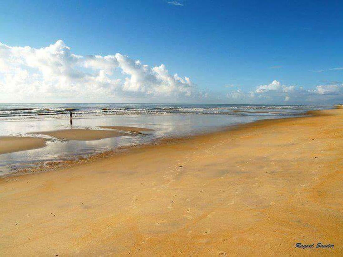 Sea Beach Sand Sky Horizon Over Water Blue Outdoors Water Clear Sky Scenics No People Beauty In Nature Paisagensbrasileiras Places I've Been Férias Itaunas EspiritosantoBrasil Forro MeuBrasilBrasileiro Tranquility