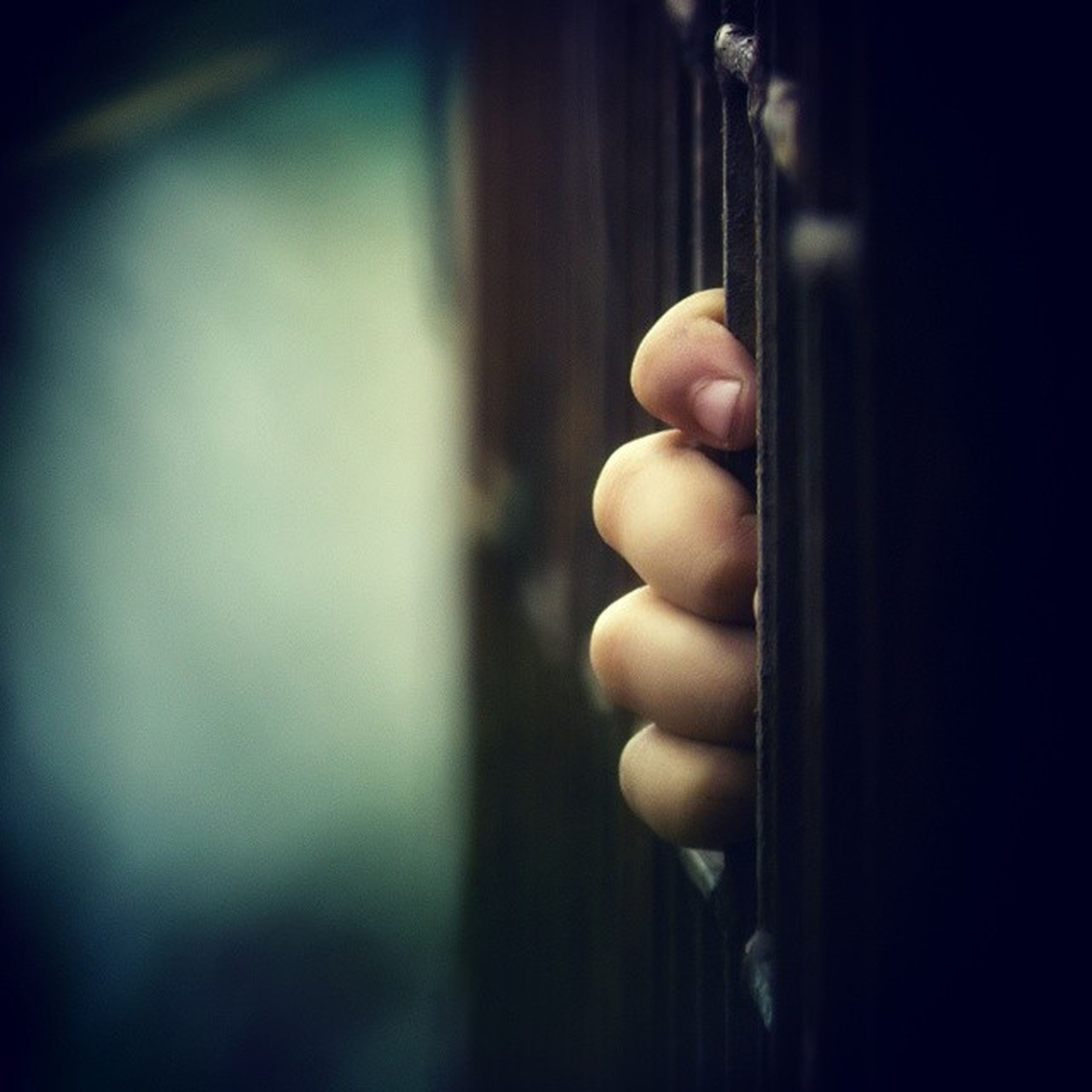 indoors, close-up, person, part of, childhood, focus on foreground, selective focus, holding, cropped, home interior, window, human finger, metal, auto post production filter, lifestyles, wood - material, door