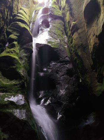 Adrspach Waterfall Water Beauty In Nature Nature No People Scenics Forest Freshness Outdoors Day Adršpachské Skály Mountains