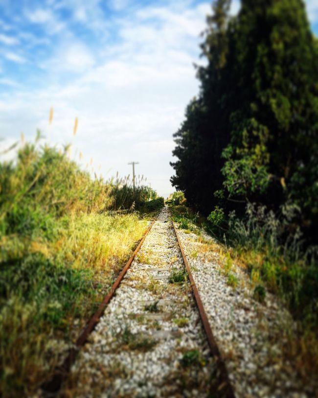 Railway Railway Line Train Follow The Railway IPhoneography