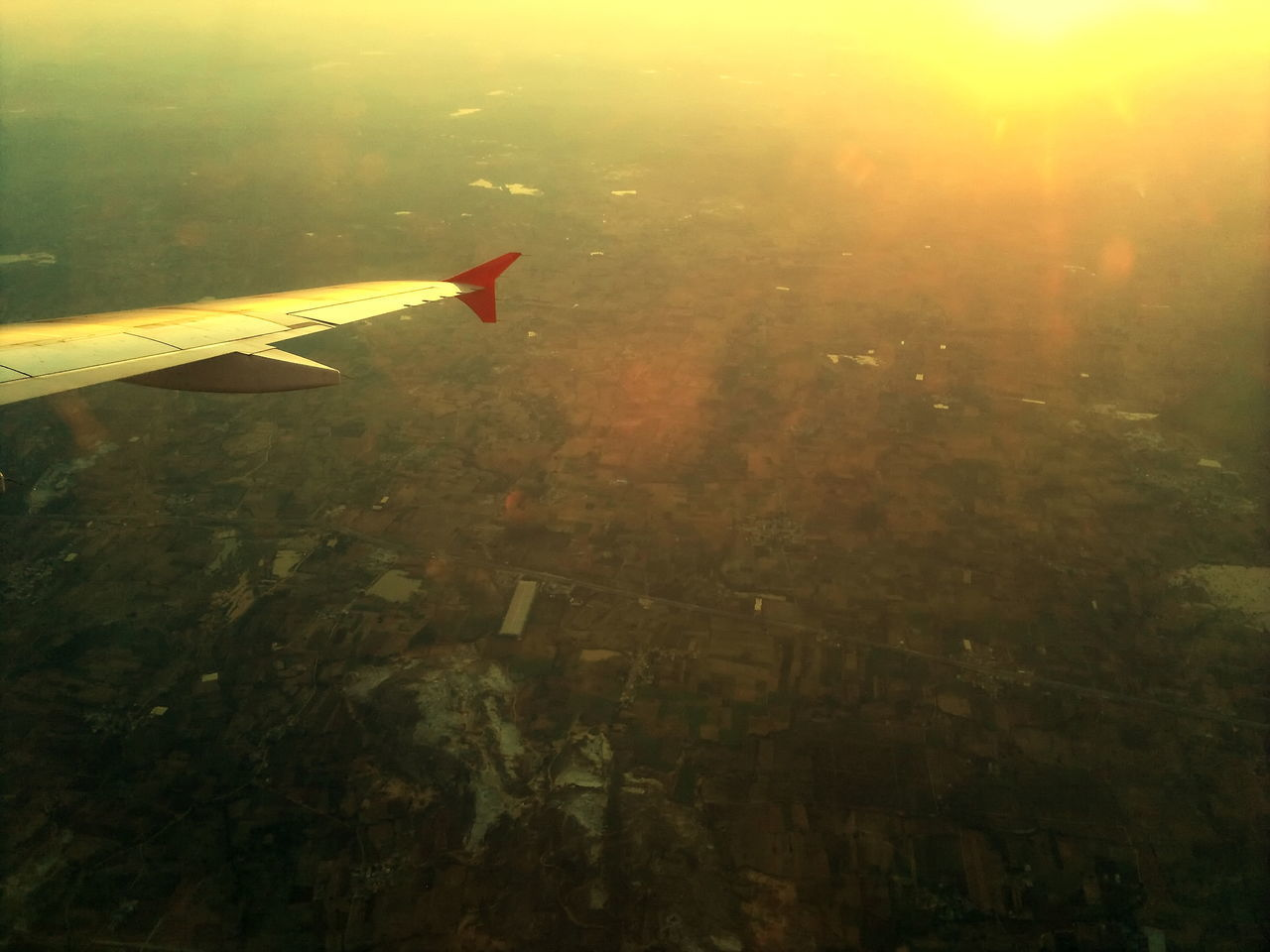 Aerial View Airplane Airplane Wing Beauty In Nature Day Journey Nature No People Outdoors Sky Transportation