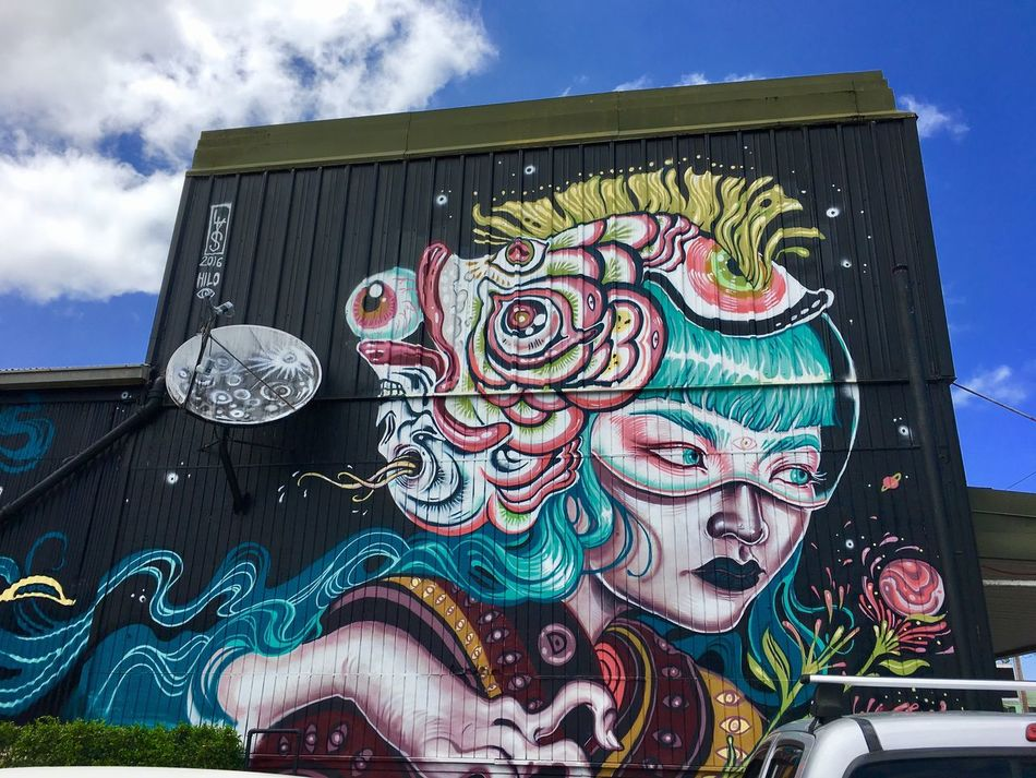 Street Art Hilo  Low Angle View No People Outdoors Chinese Dragon No Filter Big Island Hawaii Big Island Big Island Street Art