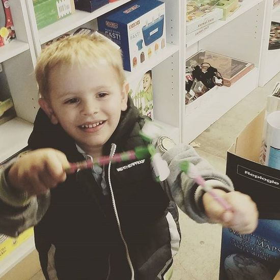First time in a toy store Love Boy Boymom Thetoystore Lawrence Kansas