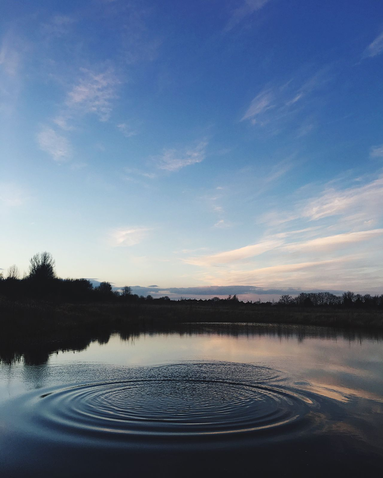 Ripple Water Reflection Sky Nature Beauty In Nature No People Scenics Outdoors Tree Tranquil Scene Lake Day Ripples Ripple Ripples In The Water Rippled Water Landscape_photography Outdoor Photography Sunset_collection Composition Beauty In Nature Nature