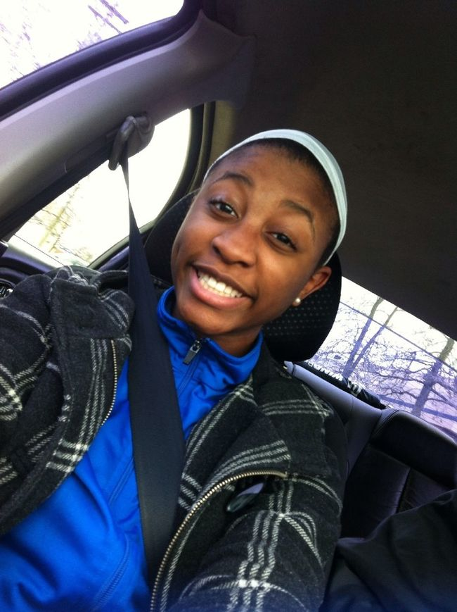 That's me in the car!! Taking pic. #smile #cute