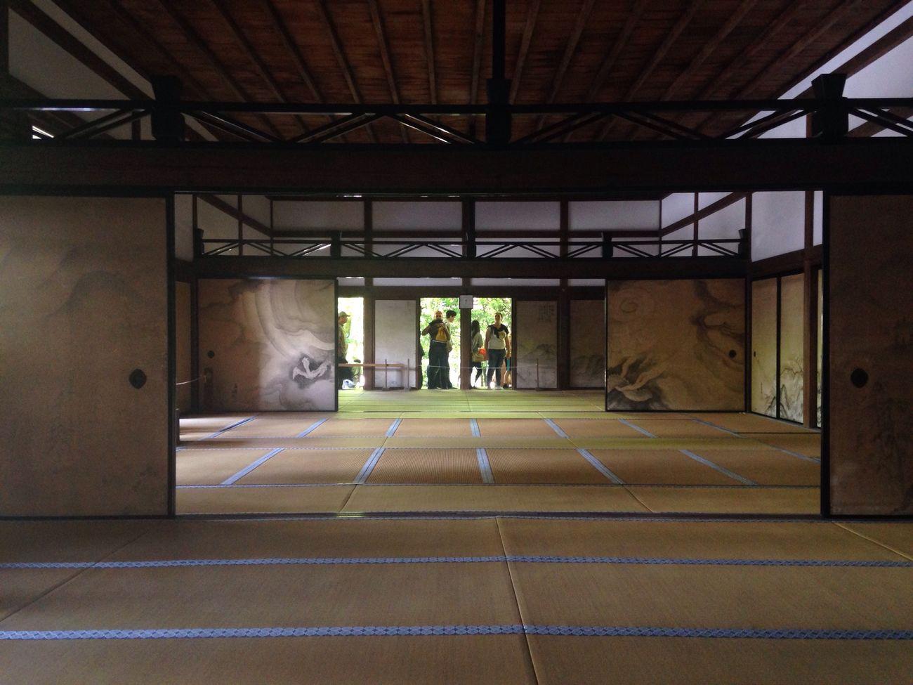 襖に描かれた竜見たかった 畳 Temple 竜安寺 Strawmats Traditional Kyoto Sunlight Springtime Spring