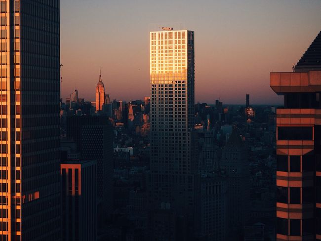 🗽🌆 Hello World NYC New York New York City Architecture Empire State Building Sunset EyeEm Best Shots Urban Geometry Skyscrapers