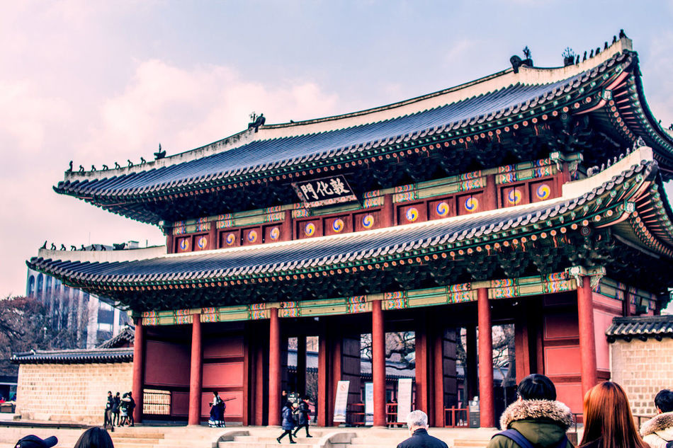 Outdoors Sky Architecture Cultures Built Structure Korean Traditional Architecture Seoul Trip Palace Changduk Palace ASIA Palace Of Culture Asian Culture Low Angle View Seoul Korean Style Korea Traditional Architecture Korea Temple Korea Tradition Architecture Religion History Building Exterior City Lifestyles Business Finance And Industry