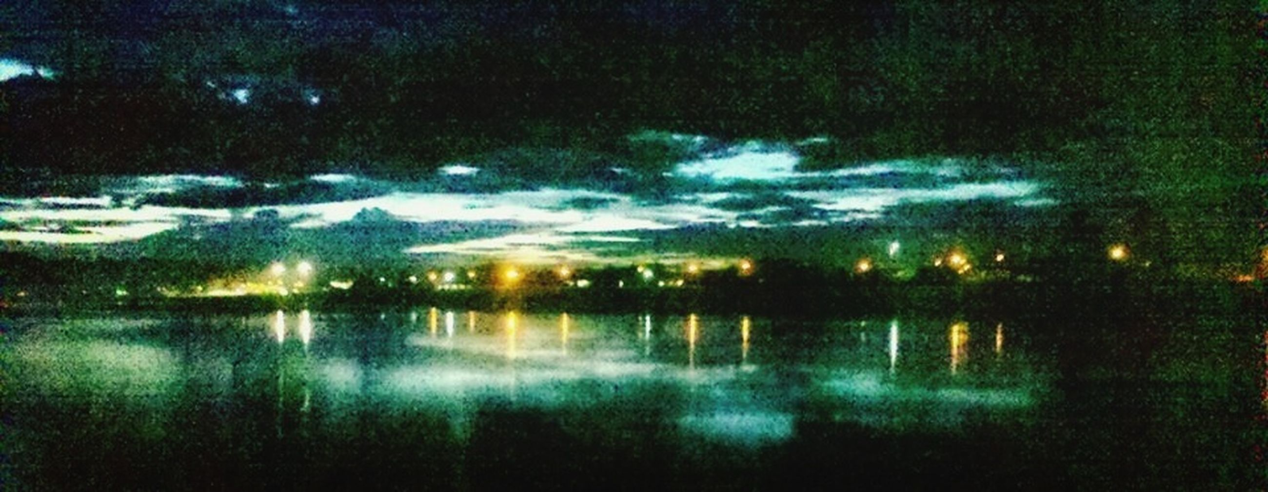 water, reflection, lake, tranquility, waterfront, tranquil scene, beauty in nature, nature, scenics, standing water, night, river, outdoors, no people, idyllic, sky, pond, wet, tree, calm