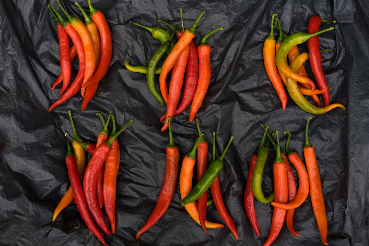 Vegetable Orange Color Variation Food Abundance Food And Drink Ingredient Healthy Eating Large Group Of Objects No People Freshness BYOPaper! Pattern Peppers