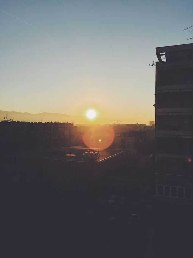 The biggest cliche in photography is sunrise and sunset. Sunset Sunrise Traveling Hello World Enjoying Life Enjoying The Sun Plovdiv Summer Clouds And Sky Winter Summertime Taking Photos Outside Nature Urban