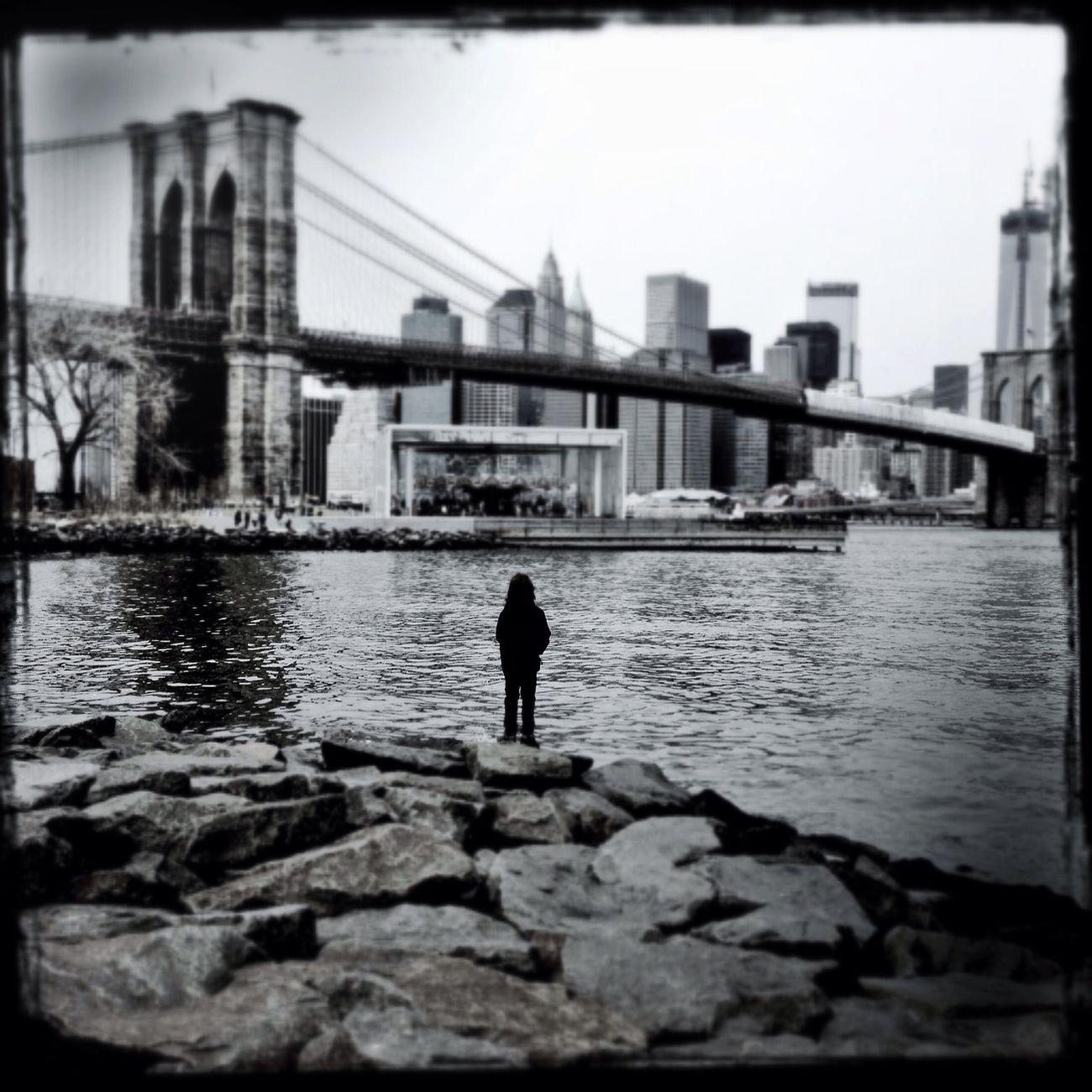 Blackandwhite New York Monochrome Brooklyn Bridge