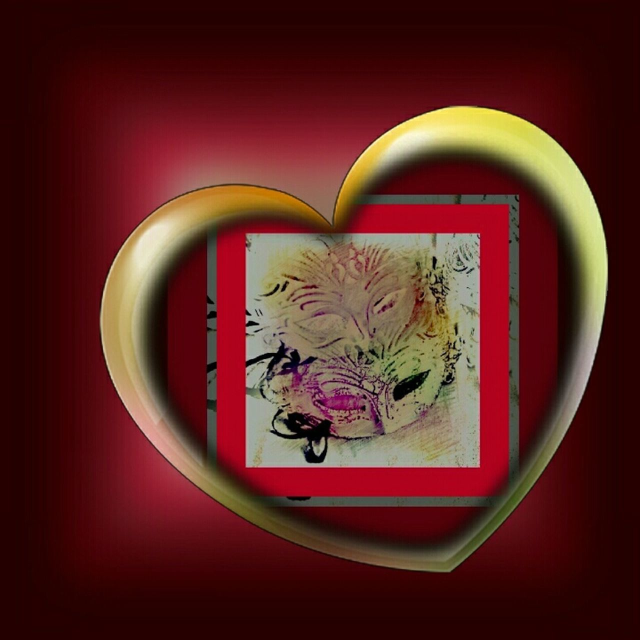 Carnival Crowds And Details Colored Background Red Background Heart Shape Featured Photo Drawing - Art Product Artphotography Art, Drawing, Creativity Creativity Has No Limits Eyeem Market Carnival Crowds And Details