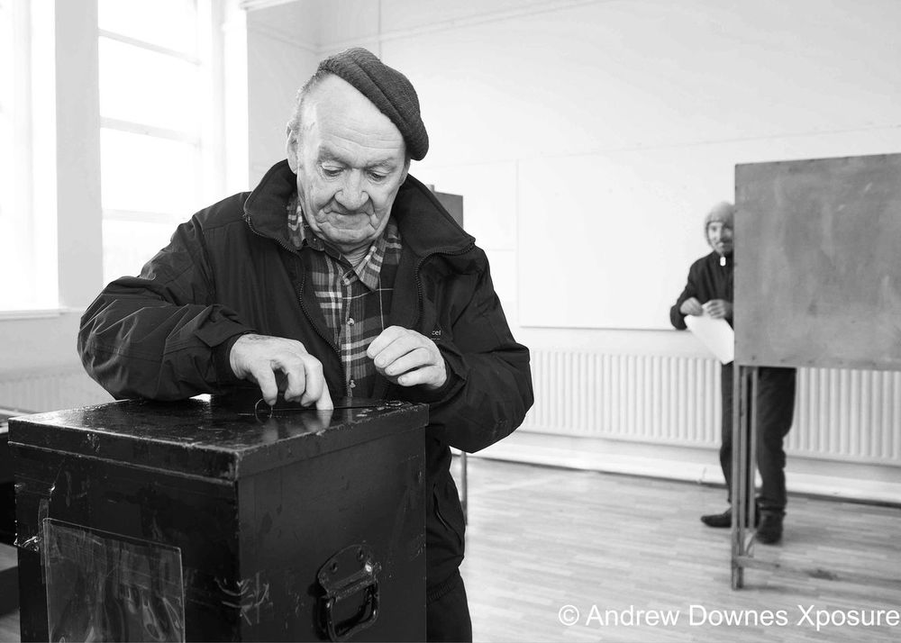 Voting on Inis Mor arann islands, ireland Galway,ireland Election Election Day