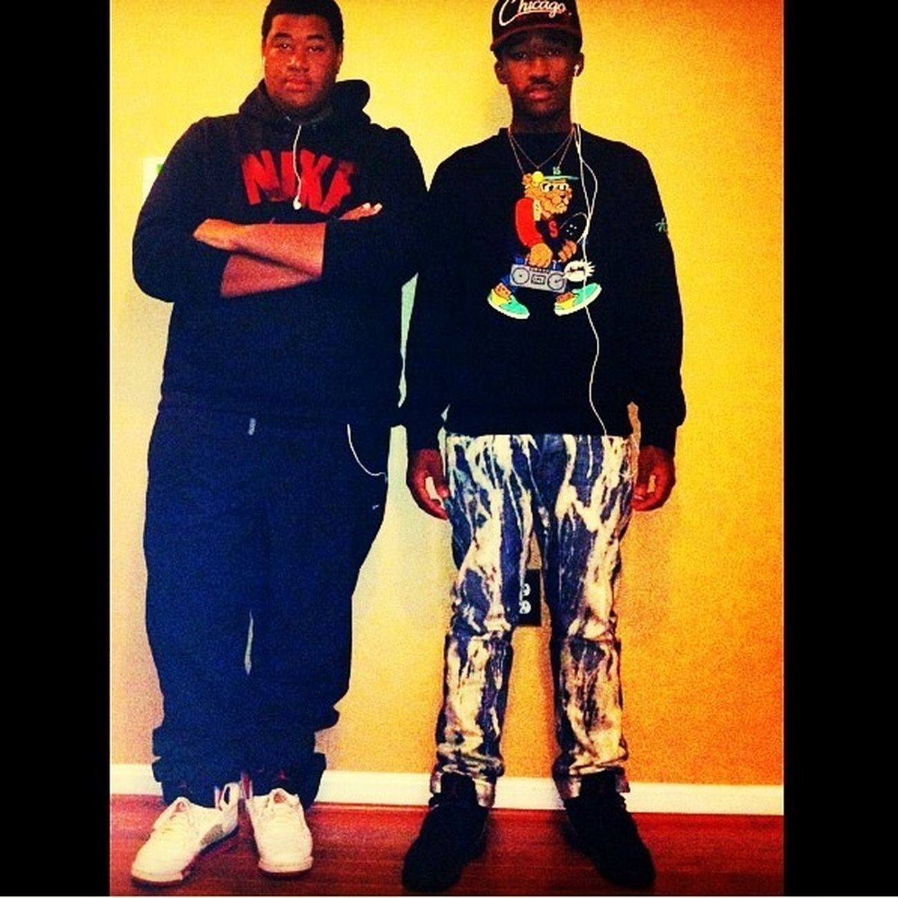 Flexin Wid My Cuzzo In The Fire Red 5s