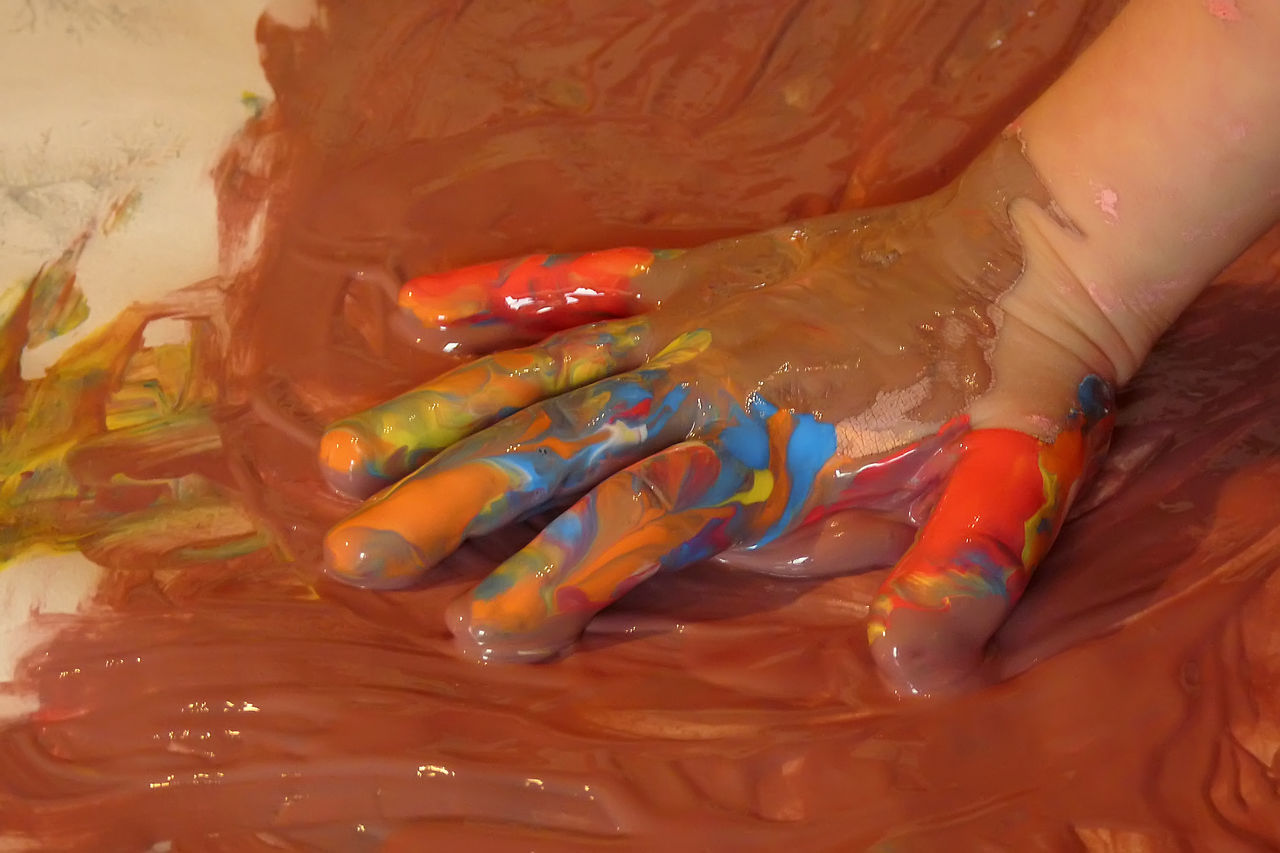 Baby Hand Baby Hands  Backgrounds Brown Close-up Colored Hands Hand Painted Hand Painting Multi Colored Multicolor Multicolored Multicolors  No People Paint Painting Painting Art
