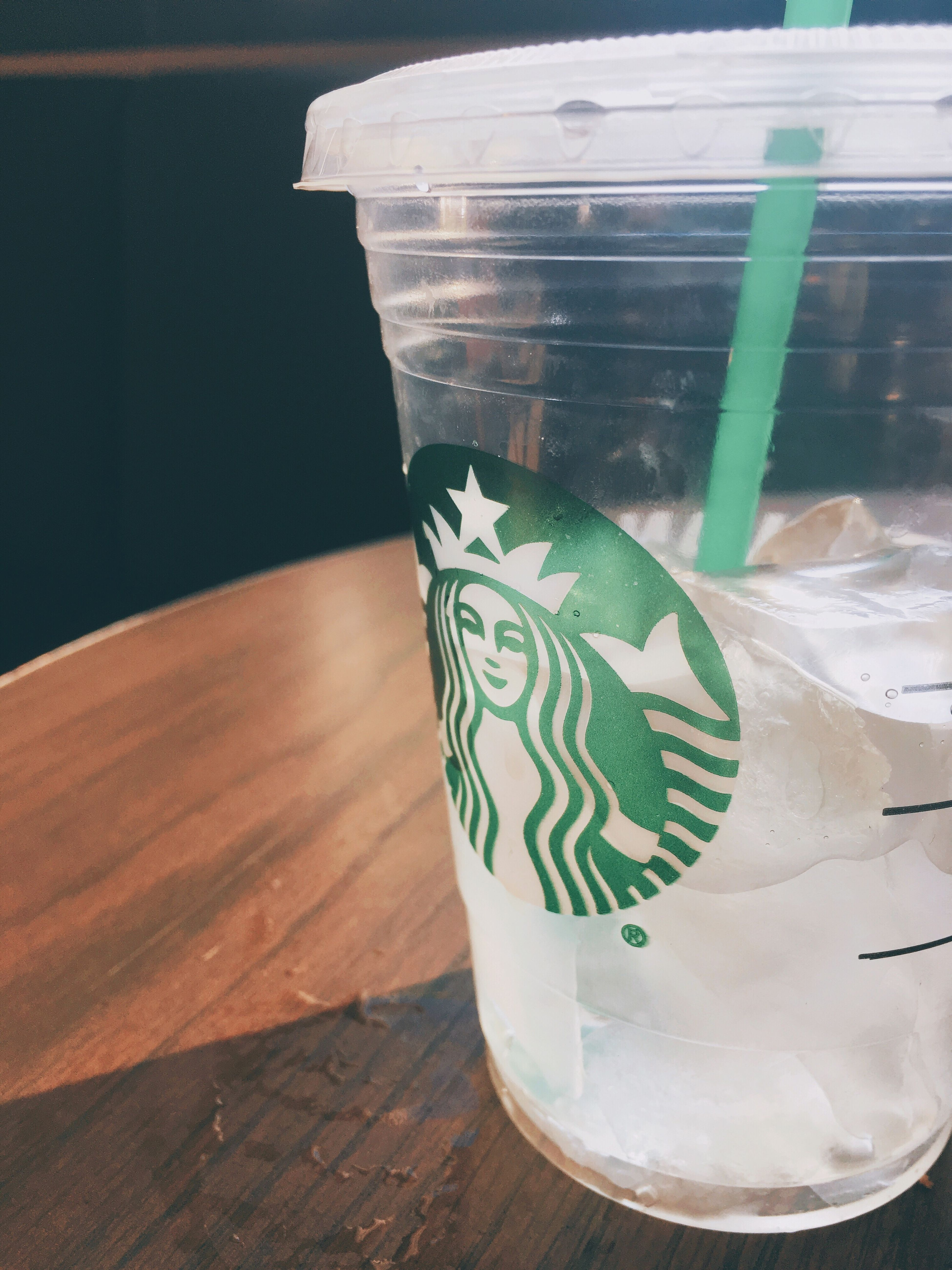 Starbucks Indoors  No People Table Green Color Close-up Day Freshness Water Colors Color Colorful Water Cup Starbucks Water