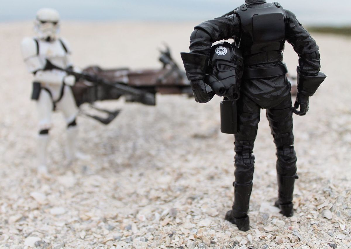 """""""What will you do when they catch you? What will you do if they break you? If you continue to fight, what will you become?"""" Rogue One TieFighterPilot Stormtrooper Starwarstoypics Starwarstoys Starwarsblackseries Starwarstoyfigs TBSFF Speederbike Ohiotoykick Toyoutsiders HasbroToyPic Actionfigurephotography Toptoyphotos Toyonlocation Toyartistry_elite Toyboners Justanothertoygroup Toydiscovery Toyrevolution Toygroup_alliance Toycommunity Toystagram Toyartistry Toycrewbuddies"""