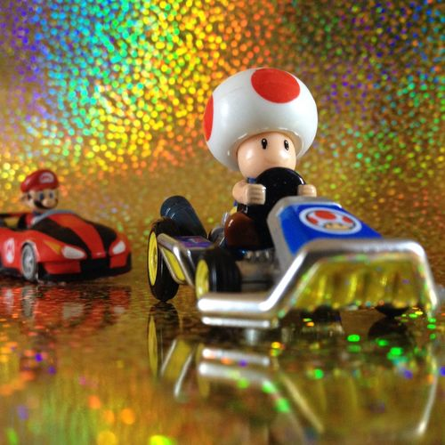 Close-up Indoors  No People Holographic Toys Playing Toad Mario Kart