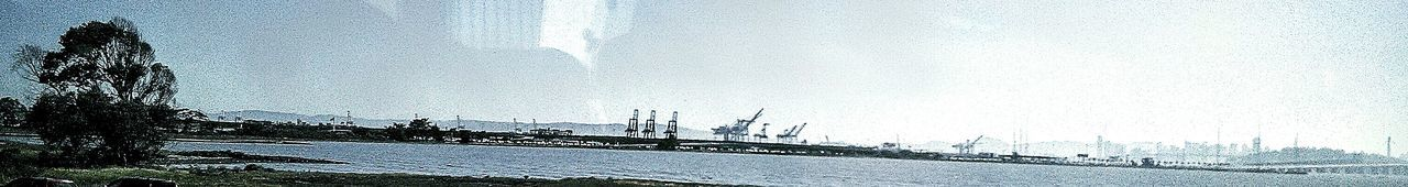 Panoramic Photography Panoramic Views Freeway Landscape San Francisco In The Background City Scape Waterscape Photography Port Of Oakland Ca Bridge Over Water San Francisco Bay Area San Francisco Bay Bridge Feel The Journey Taking Photos ❤ Eye4photography  View From The Bus Window Road Trip ♥ Freeway Scenery Mein Automoment My Photography Highway Photography Tree