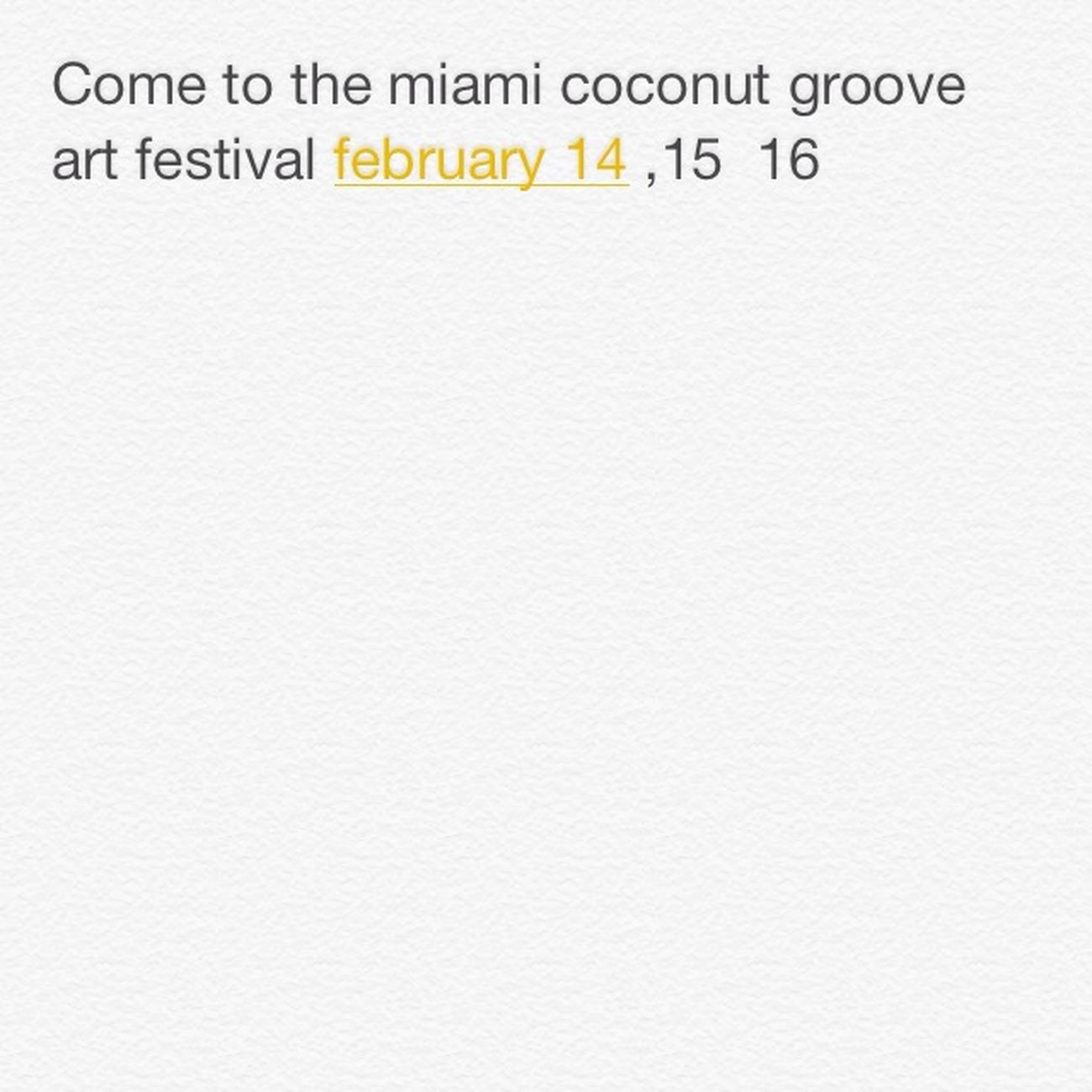 Festival Miami CoconutGrove Come
