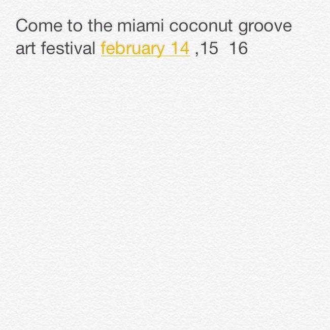 Festival Miami CoconutGrove Come