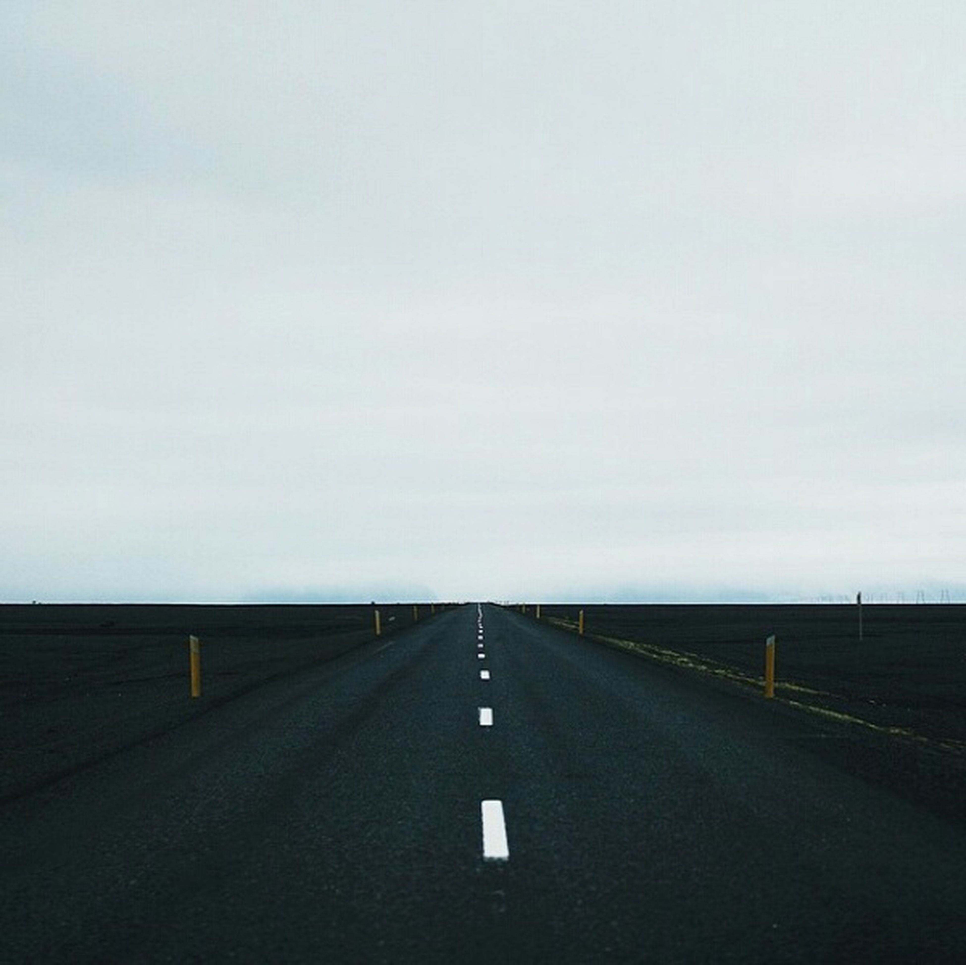 the way forward, road, road marking, diminishing perspective, vanishing point, transportation, sky, empty, empty road, long, asphalt, copy space, street, tranquility, country road, tranquil scene, outdoors, no people, nature, surface level